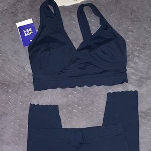 Joy Lab Athletic Navy Scalloped Set